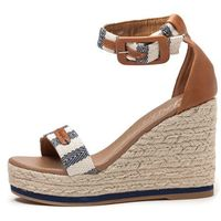 Wrangler sandały damskie Kay Stripes 36 beżowy, kolor beżowy