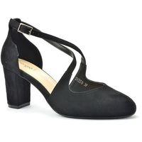 Sandały Sergio Leone SK859 czarny zamsz, kolor czarny