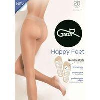 Rajstopy oddychające z profilowaną stopą happy feet 20 den lycra , Gatta