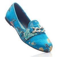 Buty wsuwane niebieskozielony wzorzysty marki Bonprix