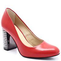 TYMOTEO 2689 CZERWONE - Czółenka z modnym obcasem - Czerwony, kolor czerwony