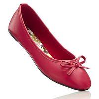 Baleriny jaskrawy czerwony marki Bonprix