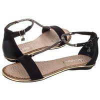 Sandały czarne b2578 (ci39-e) marki Carinii