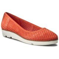 Półbuty CLARKS - Evie Buzz 261238644 Coral Suede, kolor pomarańczowy
