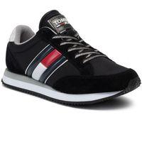 Sneakersy TOMMY JEANS - Casual Retro Sneaker EN0EN00644 Black 990, w 7 rozmiarach