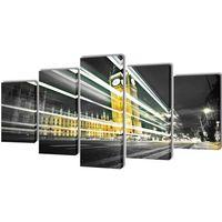 vidaXL Zestaw obrazów Canvas 200 x 100 Big Ben