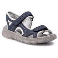 Sandały - 67866-14 blau kombi marki Rieker
