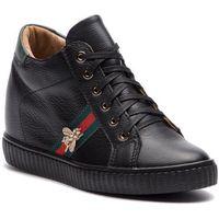 Sneakersy - 0959 czarny lico/zielony, R.polański, 36-41