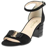 Sandały Ann Mex 8759 - Czarne 01W, kolor czarny