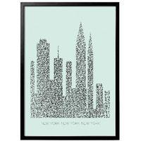 Duży plakat w ramie Nowy York - Bloomingville, 50500059