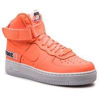 Buty - air force 1 hi lx lthr bq7925 800 total orange/total orange, Nike