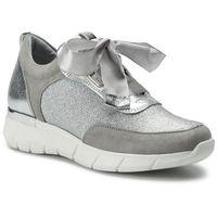 Sneakersy - 2912/127-p szary/srebny, Karino, 37-40