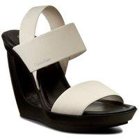 Sandały CALVIN KLEIN BLACK LABEL - Yelena N11400 Soft White, kolor beżowy