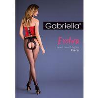 Rajstopy Gabriella Erotica Fiera 668 ROZMIAR: 1/2-XS/S, KOLOR: czarno-czerwony/nero-red, Gabriella