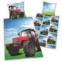 Herding  dziecięca pościel bawełniana traktor, 140 x 200 cm, 70 x 90 cm