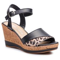 Sandały - 1-28382-32 black/leopard 090 marki Tamaris
