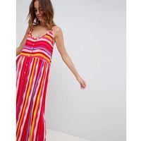 Vero Moda Block Stripe Beach Maxi Dress - Multi