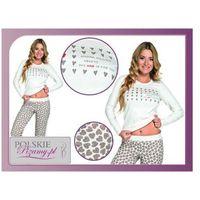 Piżama damska amor: śmietankowa biel + brąz, Italian fashion