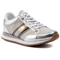 Tommy jeans Sneakersy - casual retro sneaker en0en00413 silver 000