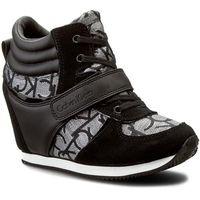Sneakersy CALVIN KLEIN JEANS - Viridiana RE9642 Silver/Bla