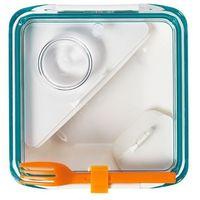 Black+Blum - pojemnik na posiłki Box appetit - biało-niebieski - biało-niebieski, kolor wielokolorowy