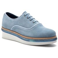 Oxfordy TOMMY HILFIGER - Easy Femmine Lace Up Shoe FW0FW03957 Blue Fog 437, kolor niebieski