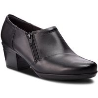 Clarks Półbuty - emslie claudia 261370244 black leather