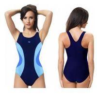 strój kąpielowy damski jednoczęściowy (granat/błękitny) (gw10216/1), Gwinner
