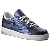 Buty - club c 85 s shine cm8687 royal dark blue/white, Reebok
