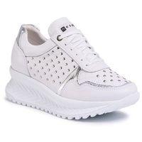 Sneakersy NESSI - 20680 Biały/Srebro, kolor biały