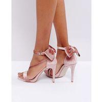 bow trim strappy sandals - navy, Miss kg