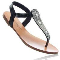 Sandały japonki czarny, Bonprix, 36-42