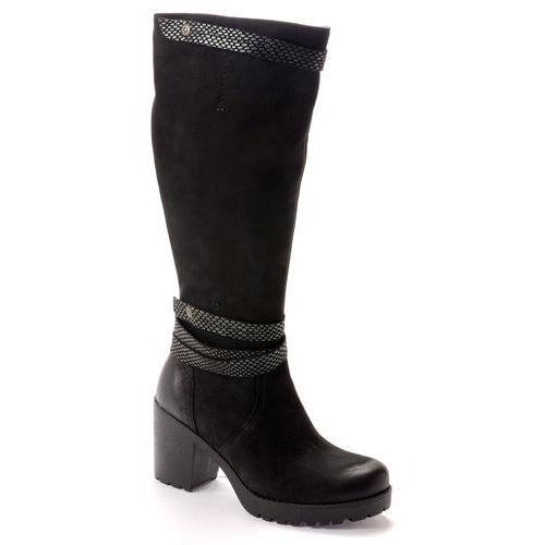 Kozaki Lemar 70022 czarny, kolor czarny