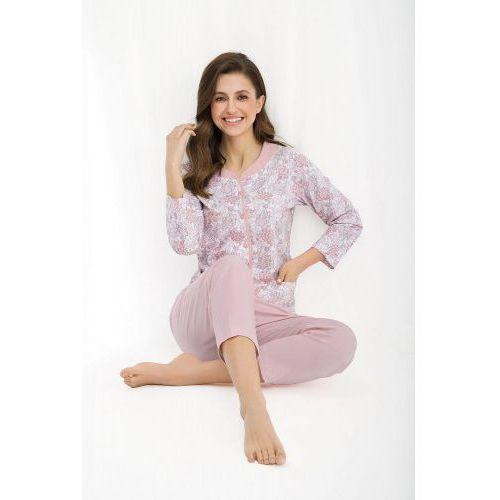 Luna Bawełniana piżama damska 458 różowa