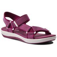 Sandały CLARKS - Brizo Cady 261340374 Deep Fuchsia, kolor fioletowy
