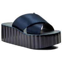 Klapki TORY BURCH - Scallop Wedge Flip Flop 39754 Perfect Navy 430, kolor niebieski