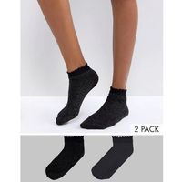 2 pack glitter socks - black marki Vero moda
