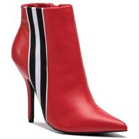 Botki STEVE MADDEN - Knock Bootie SM11000340-03001-607 Red Leather, kolor czerwony