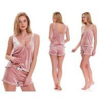 Piżama damska ksenia: róż marki Dobranocka
