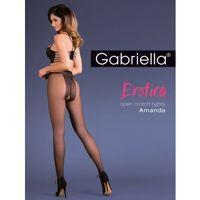 Rajstopy z otwartym kroczem amanda plus size marki Gabriella