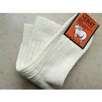 Skarpety rozgrzewające wełniane (99%) thermal - rozm. 43-46 kremowe - prod. nebat marki Nebat (turcja)