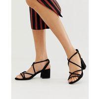 low block heeled sandal in black - black, New look