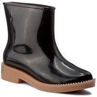 Kalosze MELISSA - Rain Drop Boot Ad 32185 Black/Beige 51496, kolor czarny