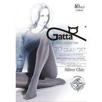 Gatta Rajstopy silver chic 40 den mel.grafit/odc.szarego - mel.grafit/odc.szarego