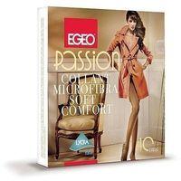Rajstopy passion microfibra soft comfort 40 den 2-4 4-l, beżowy/toffie, egeo marki Egeo