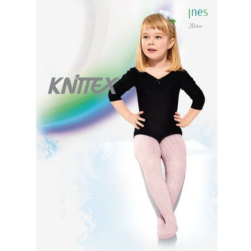 Rajstopy ines 20 den rozmiar: 140-146, kolor: biały, knittex, Knittex