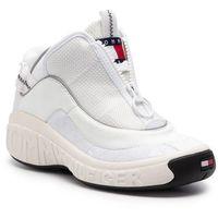 Sneakersy TOMMY JEANS - No1 Tommy Jeans Sneaker EN0EN00515 Triple White 100, kolor biały