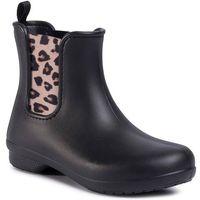 Kalosze CROCS - Freesail Chelsea Boot W 204630 Leopard/Black, kolor czarny