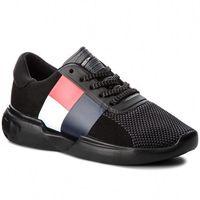 Sneakersy - lightweight hilfiger wmn sneaker fw0fw03461 black 990, Tommy hilfiger