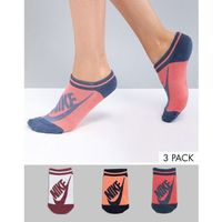 Nike 3 pack no show socks - multi
